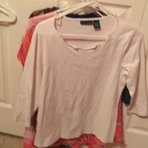 Cotton  Three-quarter sleeve T-shirt
